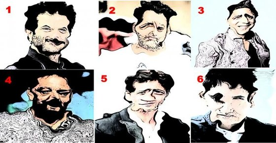 Can you guess these Bollywood actors?