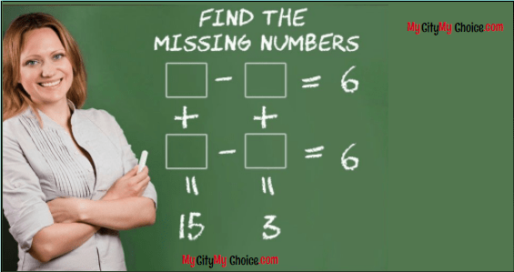 Find the missing numbers puzzle answer